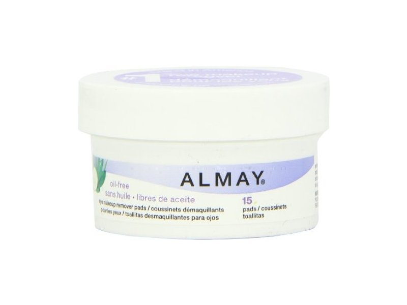 Almay Oil Free Eye Makeup Remover Pads With Aloe, Cucumber & Green Tea, Revlon