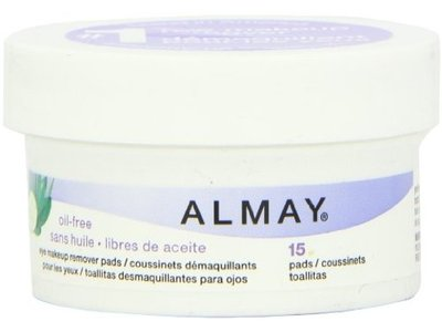 Almay Oil Free Eye Makeup Remover Pads With Aloe, Cucumber & Green Tea, Revlon - Image 1