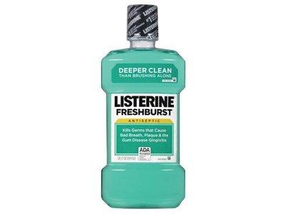 Listerine Antiseptic Mouthwash, Fresh Burst, 1 Liter - Image 1