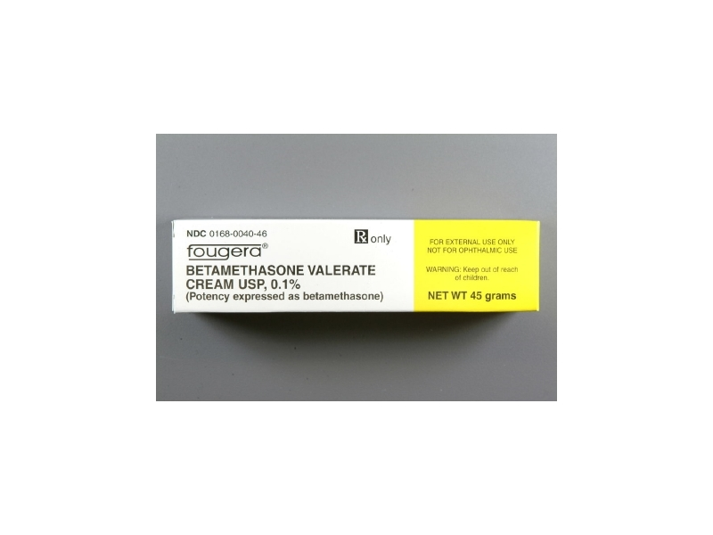 Betamethasone Valerate Cream 0.1% (RX) 45 Grams, Fougera