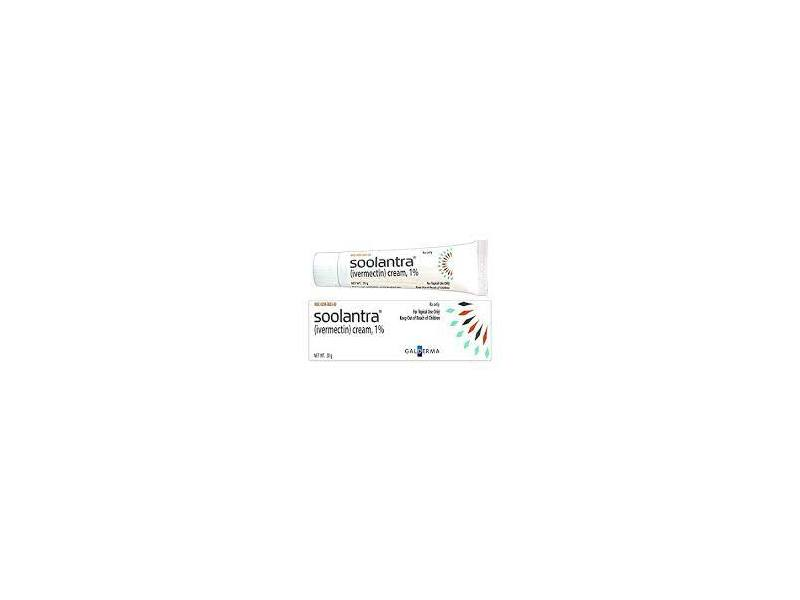 Soolantra (Ivermectin) Cream 1% (RX), 45 G, Galderma