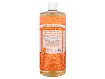 Dr. Bronner's Magic Soaps Liquid Castile Soap, Tea Tree, 32 oz - Image 3