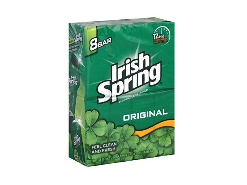 Irish Spring Deodorant Bar Soap Original, 3.75 oz bars, 8 ea (Pack of 4)