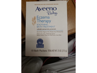 Aveeno Baby Eczema Therapy Soothing Bath Treatment, 10 Bath Packets - Image 3
