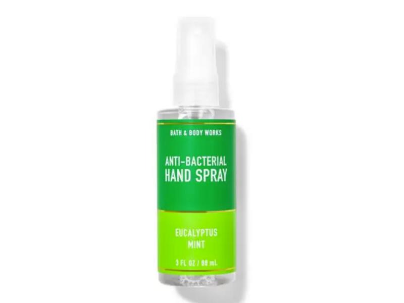 Bath & Body Works Anti-Bacterial Hand Spray, Eucalyptus Mint, 3 fl oz / 88 mL