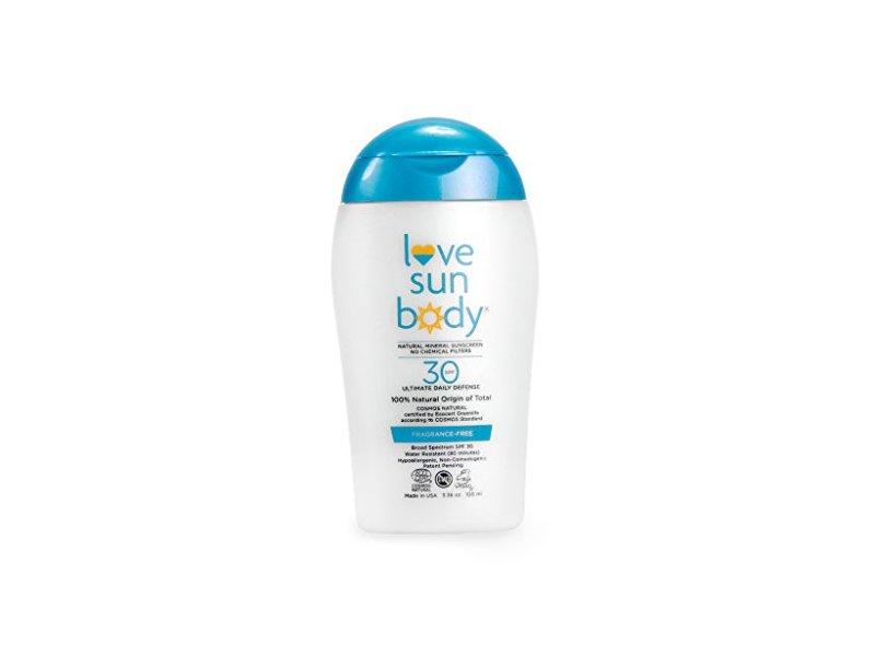 Love Sun Body 100% Natural Origin Mineral Sunscreen SPF 30 Fragrance-Free 3.38 oz