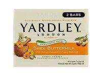 Yardley London Shea Buttermilk Sensitive Skin Naturally Moisturizing Bath Bar, 4.25 ounce, 2 Count - Image 2