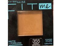 Maybelline Fit Me! Matte + Poreless Foundation Powder, 355 Coconut, 0.29 oz/8.5 g, Pack Of 2 - Image 3