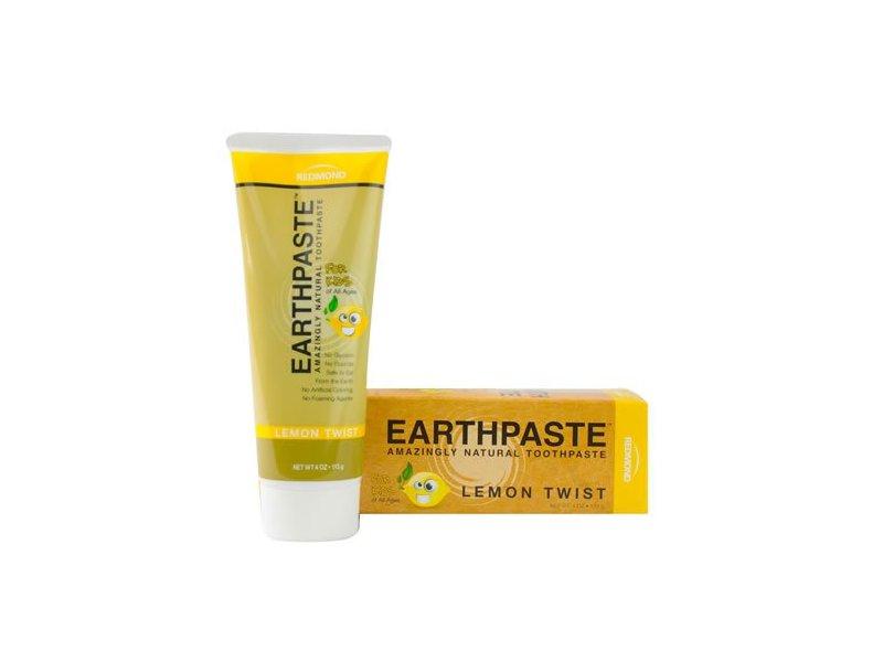Real Salt Earthpaste, Lemon Twist, 4 Oz (8 Pack)