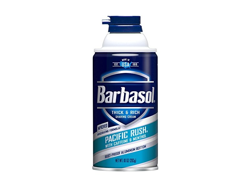Barbasol Pacific Rush Thick & Rich Shaving Cream for Men, 10 oz.