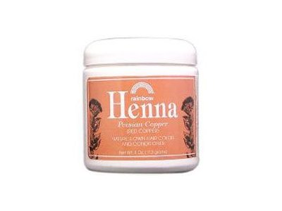 Rainbow Henna Hair Color & Conditioner, Copper (Red Copper), 4 oz