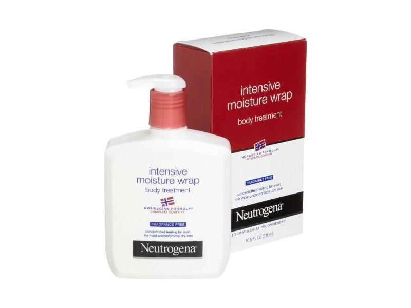Neutrogena Norwegian Formula, Intense Moisture Wrap, Body Treatment, Fragrance Free, 10.5 Ounce (Pack of 2)
