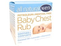 Maty's All Natural Baby Chest Rub, Coconut + Lavender + Chamomile, 1.5 oz - Image 2