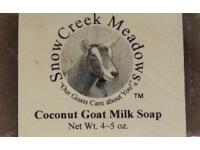 Snow Creek Meadows Goat Milk Soap, Coconut, 4-5 oz - Image 2