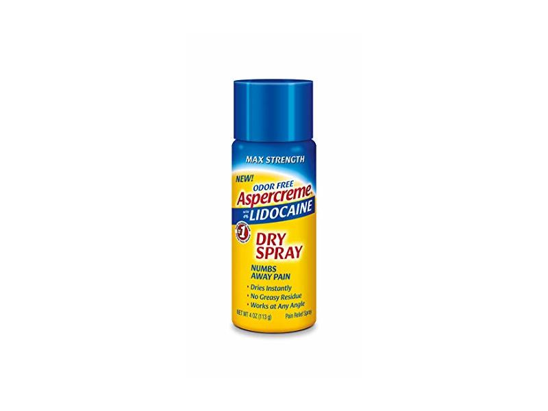 Aspercreme Lidocaine Dry Spray, 4 oz