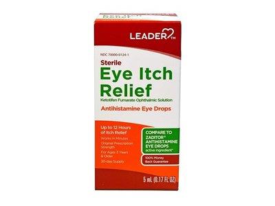 Leader Sterile Eye Itch Relief Antihistamine Eye Drops