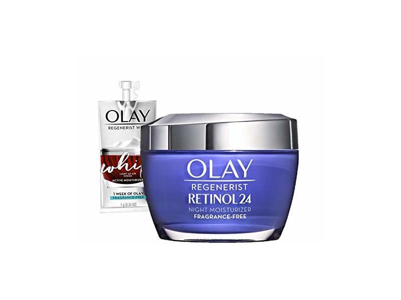 Olay Regenerist Retinol Moisturizer, Retinol 24 Night Face Cream, 1.7oz