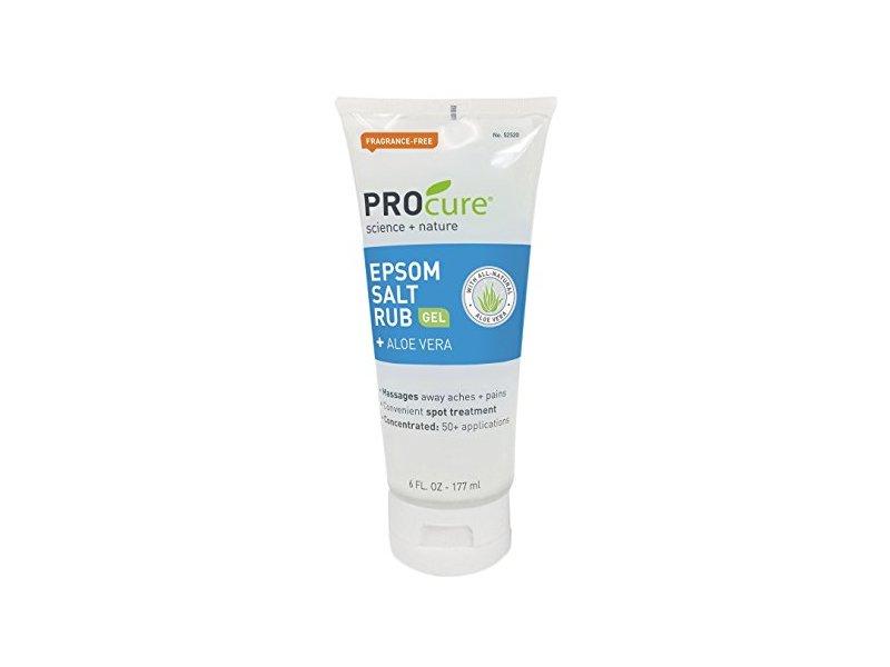 PROcure Epsom Salt Rub Gel with Aloe Vera, 6 fl oz (Pack of 3)