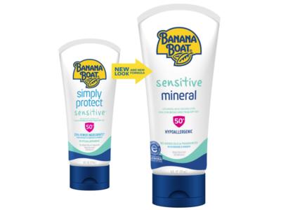 Banana Boat Sensitive Mineral SPF 50 Sunscreen Lotion, 6 fl oz/177 mL