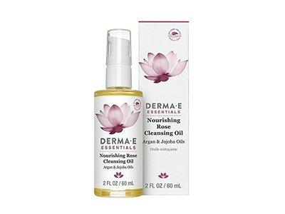 DERMA E Nourishing Rose Cleansing Oil, 2 Fl Oz - Image 1