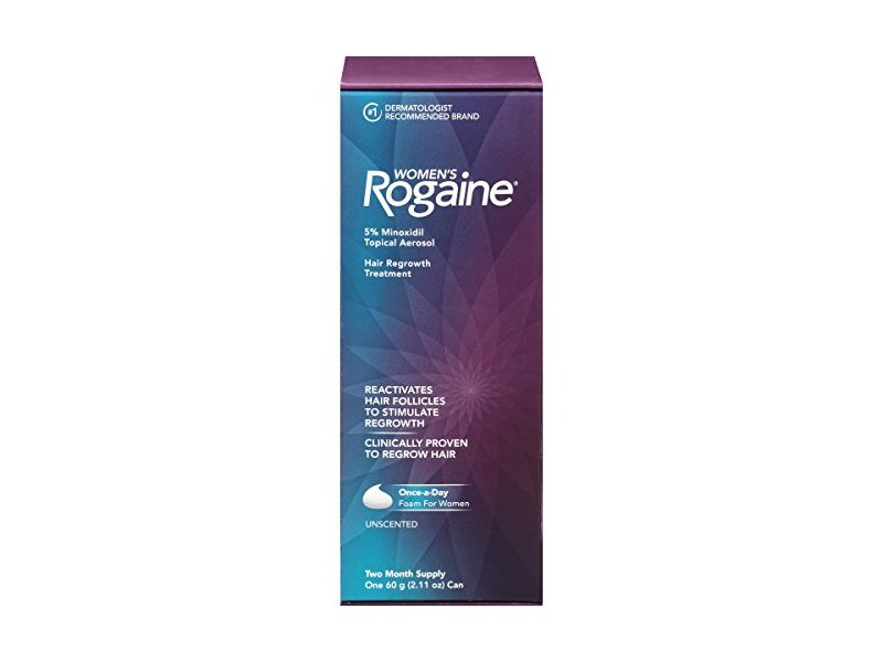 Rogaine for Women Hair Regrowth Treatment Foam, 2 Month Supply, 2.11 Ounce