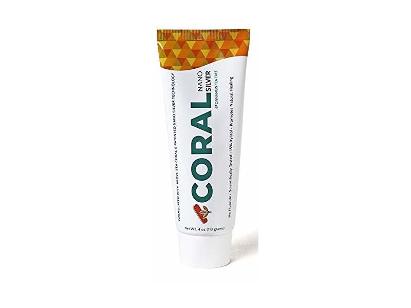Coral White Nano Silver Cinnamon Tea Tree Toothpaste, 4 oz