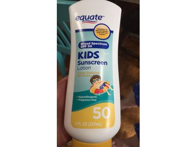 Equate Kids Sunscreen Lotion, SPF 50, 8 fl oz - Image 3