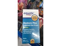 Equate Revive Plus Lubricant Eye Drops, Sensitive, 70ct - Image 3