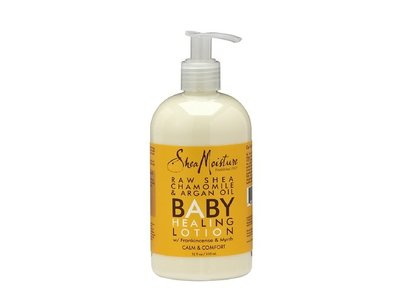 SheaMoisture Organic Raw Shea Chamomile & Argan Oil Baby Healing Lotion, 12 fl oz (4 Pack ) - Image 1