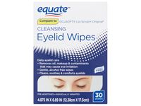 Equate Cleansing Eyelid Wipes, 30 ct - Image 2