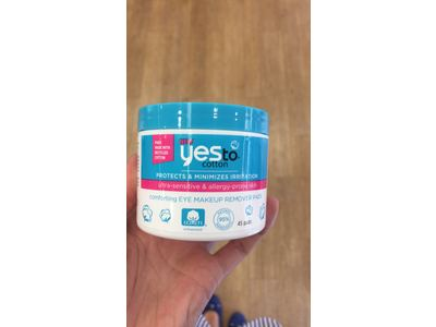 Yes To Cotton Comforting Eye Makeup Remover Pads, 45 Count - Image 3