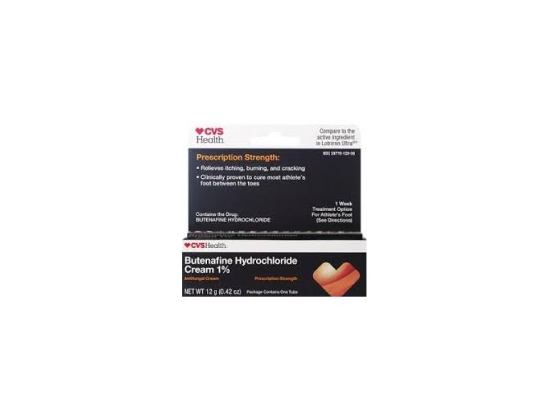 CVS Health Butenafine Hydrochloride Antifungal Cream 1%, 0.42 oz/12 g