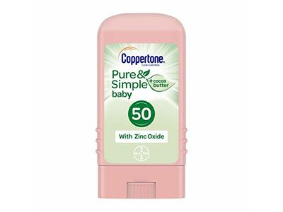 Coppertone Pure & Simple Baby SPF 50 Sunscreen Stick, 0.49 Ounce