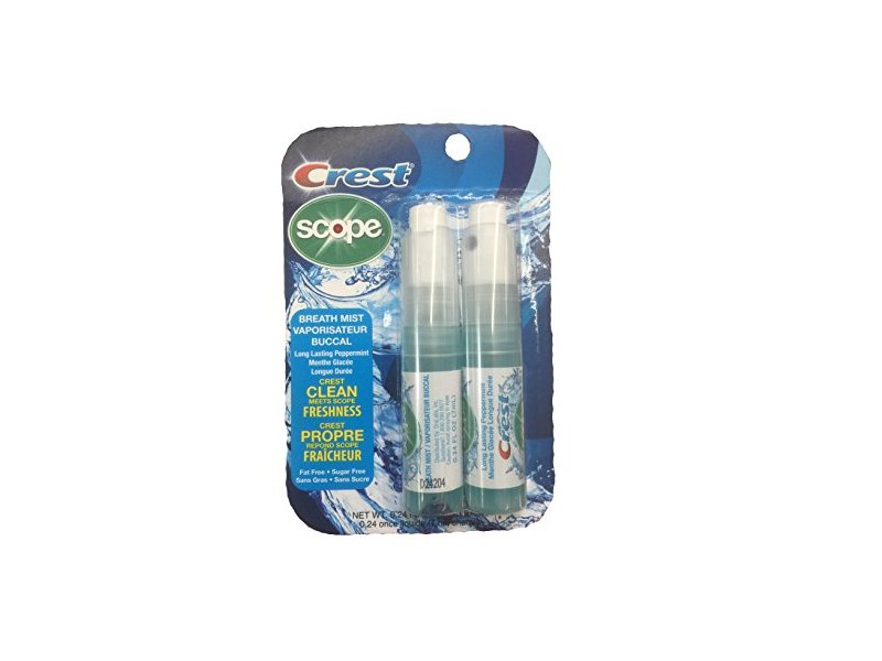 Crest Breath Mist with Scope Long Lasting Peppermint, 2 7mL Bottles