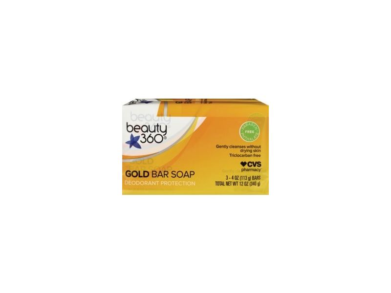 Beauty 360 Gold Bar Soap Deodorant Protection