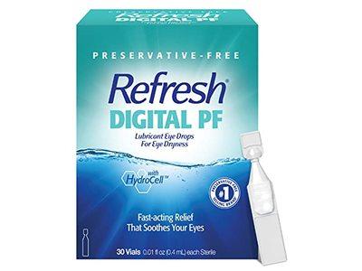 Refresh Digital PF Lubricant Eye Drops, Preservative-Free, 0.01 fl oz / 0.4 mL, 30 Count