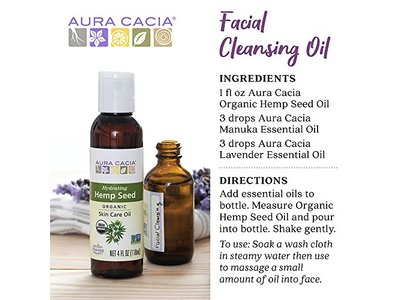 Aura Cacia Organic Hydrating Hemp Seed Skin Care Oil | 4 fl oz. - Image 6