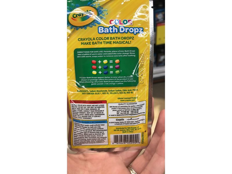 Crayola Color Bath Dropz,  48 oz Ingredients and Reviews