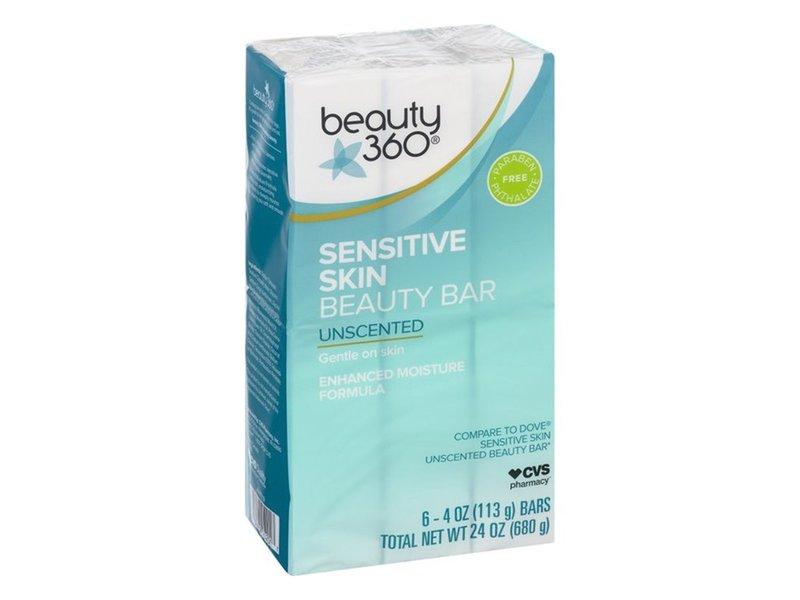Beauty 360 Sensitive Skin Beauty Bar, 6 ct