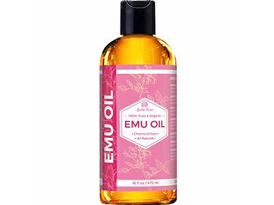 Leven Rose Emu Oil 100% Pure Natural Scar Minimizer Anti Aging Skin Moisturizer, 16 oz