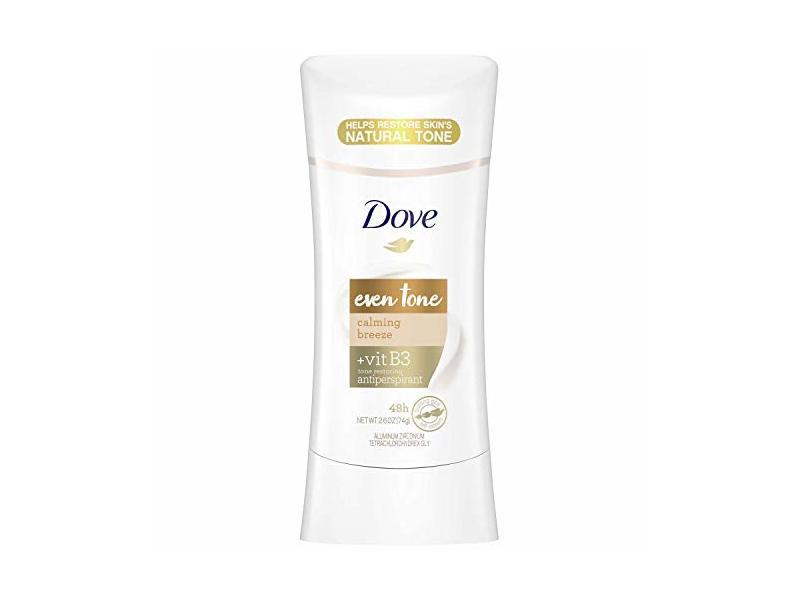 Dove Even Tone Antiperspirant, Calming Breeze, 2.6 oz
