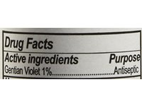 Humco Gentian Violet Topical Solution 1% Liquid, 2 Fl Oz - Image 3
