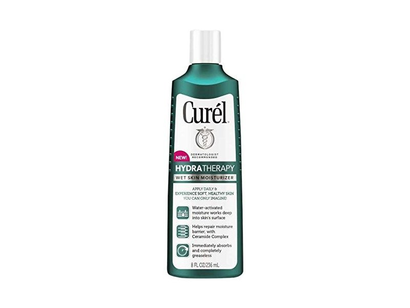 Curel Hydra Therapy Wet Skin Moisturizer Body Lotion, 8 Fl Oz