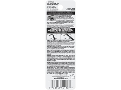 Maybelline Brow Precise Micro Eyebrow Pencil Makeup, Light Blonde, 0.002 oz. - Image 9