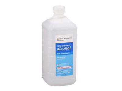 Simply right 70% Isopropyl Alcohol, 32 fl oz