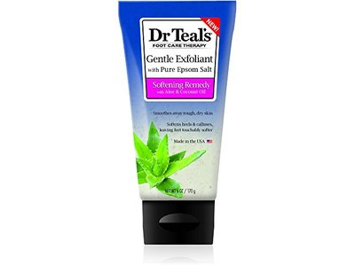 Dr Teal's Foot Care Therapy Gentle Exfoliant with Pure Epsom Salt, 6 oz