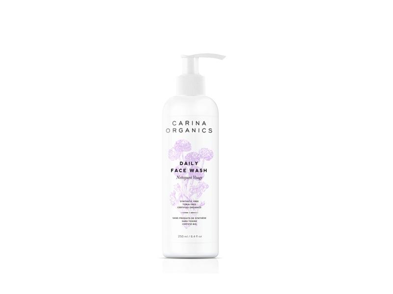 Carina Organics Daily Face Wash, Fragrance-Free, 8.4 fl oz