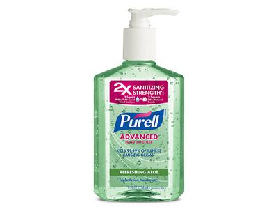 Purell Advanced Hand Sanitizer, Aloe, 8 oz