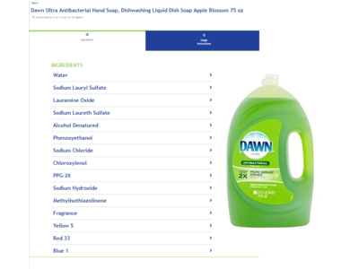 Dawn Ultra Antibacterial Hand Soap/Dishwashing Liquid, Apple Blossom, 75 fl oz