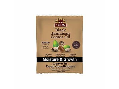 Okay Black Jamaican Castor Oil Leave-in Deep Conditioner, 1.5 oz